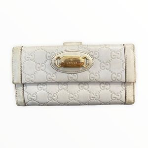 Gucci Wallet   White Gucci Guccissima Long Continental Wallet